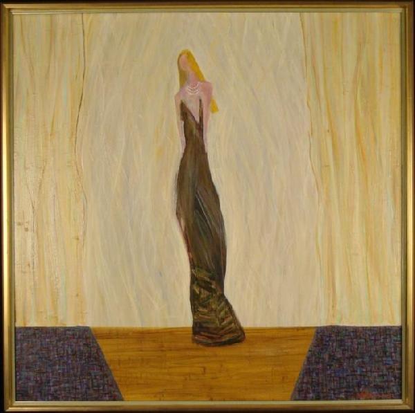 Elegant Woman Original Painting Modern Art Print