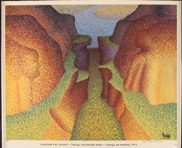 Marc Richard Rubin Signed LE Print Ladies of the Canyon