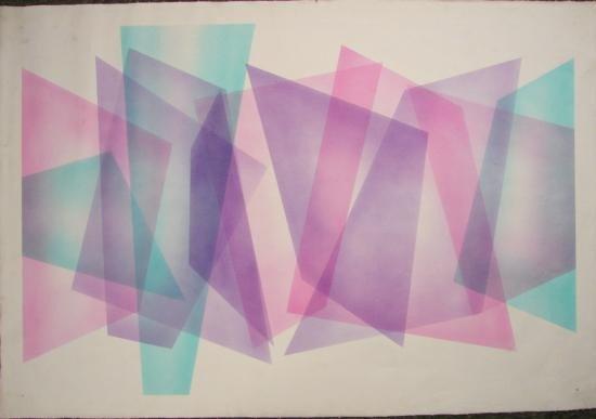 Abstract Modern Art on Canvas, Geometric