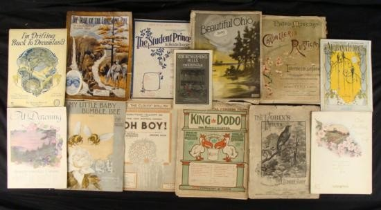1846, 1870 + 1900s-1920s (14) Music Sheets