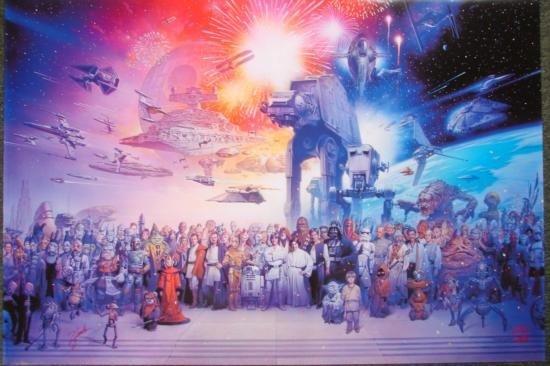 STAR WARS Anniversary Poster Art Tsuneo Sanda LucasFilm