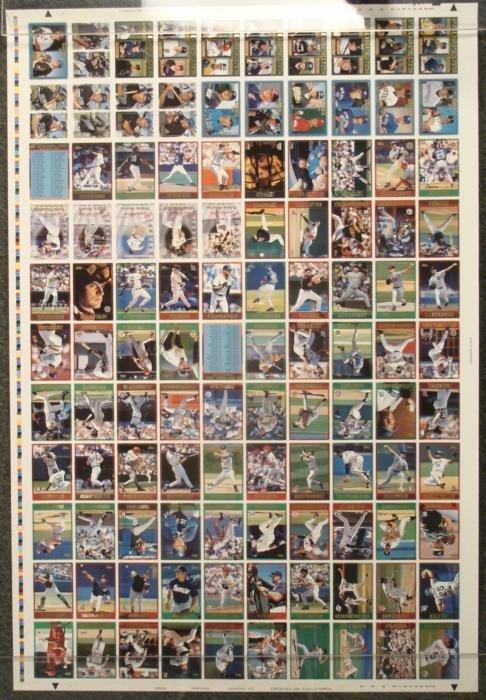 1997 Topps Baseball Uncut Card Sheet 110 Cards