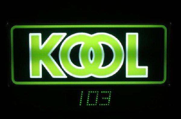 Kool Cigarette Advertising Sign w/ Clock 1993 MIB