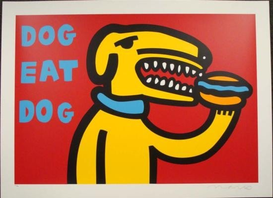 DOG EAT DOG RED MARCO Pop Art Print Wild & Wooly