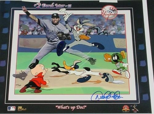 Derek Jeter Signed LE Cel WHATS UP DOC? Bugs Daffy