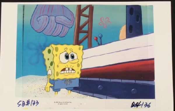 SpongeBob Background Cel Pleading Original Animation