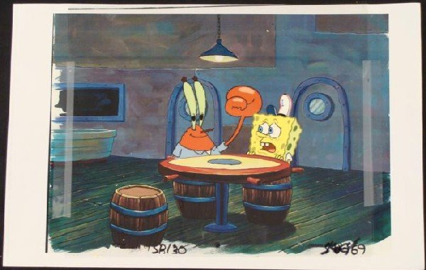 Play Games SpongeBob Original Animation Background Cel