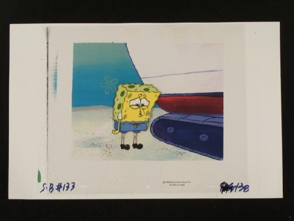 SpongeBob Background Cel Sad Production Art Original
