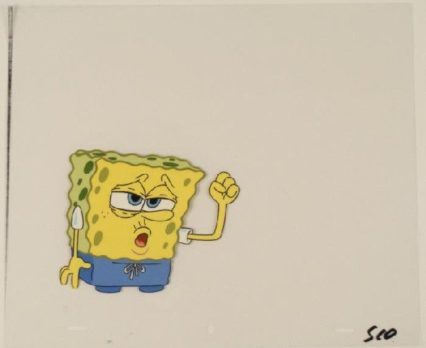 Cel Art Production SpongeBob Original Feeling Blue