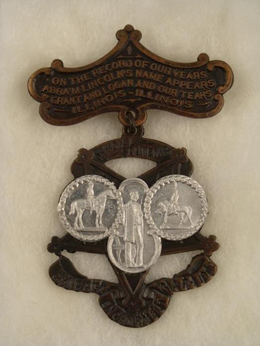 1900 GAR Encampment Antique Civil War Vet Badge
