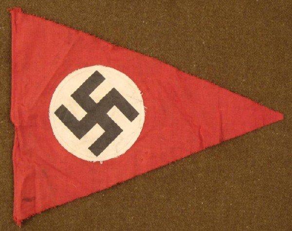 ORIGINAL DOUBLE SIDED NAZI PENNANT-MULTI-PIECE