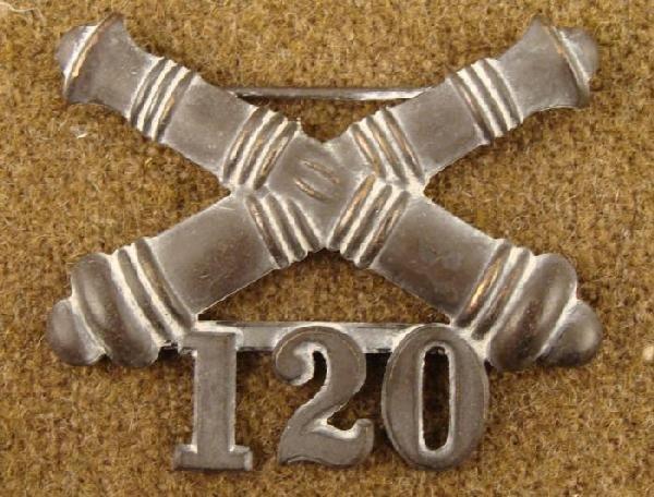 SPANISH-AMERICAN WAR 120TH ARTILLERY REGIMENT CAP BADGE
