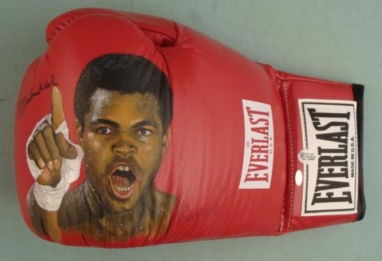 Muhammad Ali Signed Ken Branch Handpainted Boxing Glove