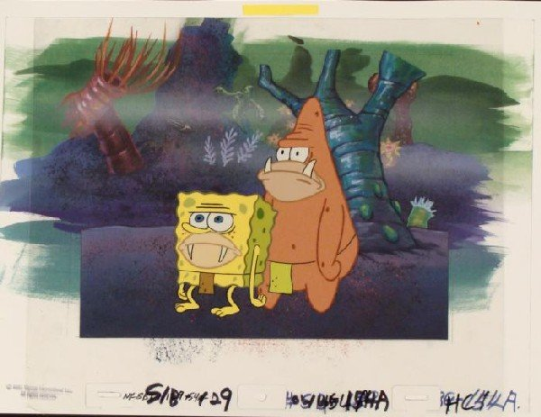 Background Prehistoric SpongeBob Original Cel Animation