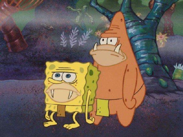 Background Prehistoric SpongeBob Original Cel Animation - 2