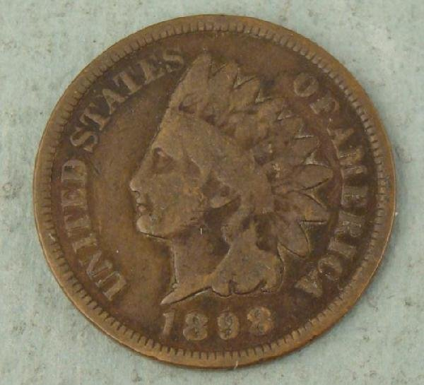 1898 Indian Head Penny One Cent - Good Detail