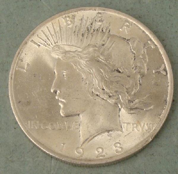1923 Silver Peace Dollar $1 High Grade Nice Coin