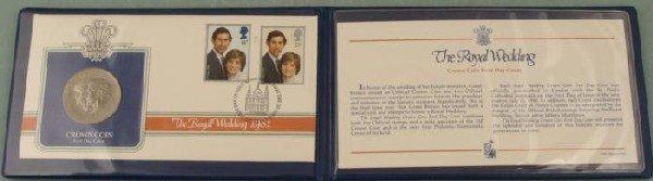 1981 British Royal Wedding Commemorative Coin Stamp Set