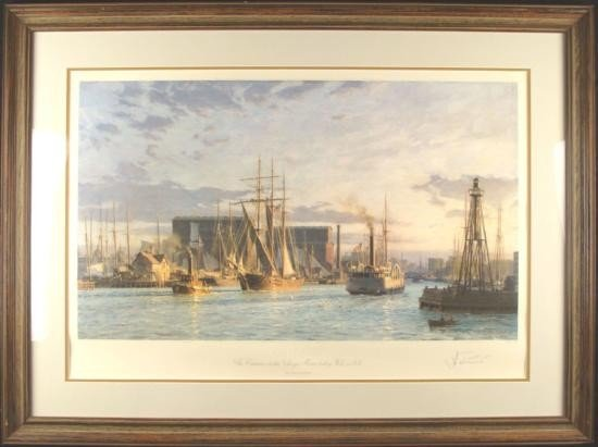 JOHN STOBART Signed Framed Print ENTRANCE TO CHICAGO