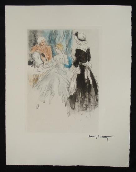 Louis Icart Erotic Nude Print  Maid Service  from Suite