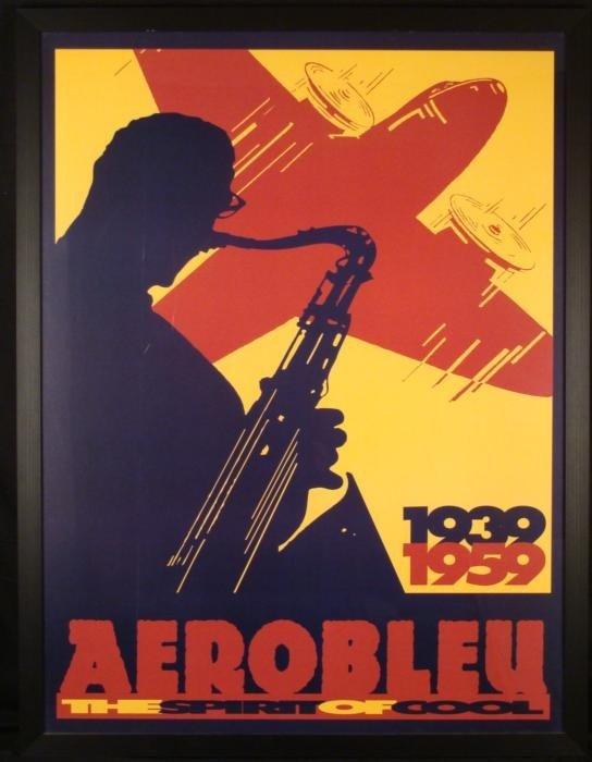 Aerobleu Spirit of Cool Vintage Jazz Poster 1959