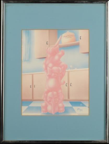 ANDY MACK Vintage Art Print Elephants Framed Children