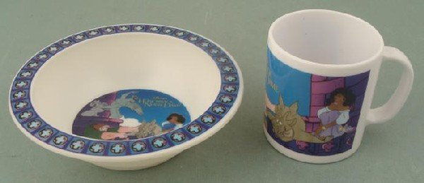 Disney Prototype Proof Hunchback Blue Mug Bowl