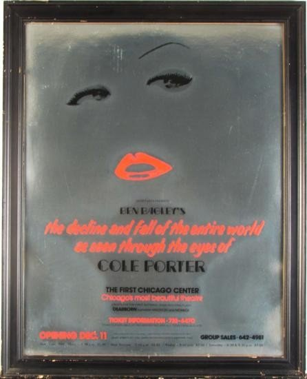 Vintage Cole Porter Chicago Theatre Musical Poster