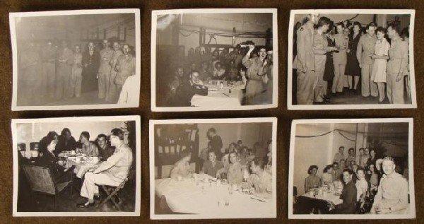 6 ORIGINAL WW II GI PHOTOS + BRITISH, NAMED