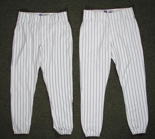 2 Pair Russell Pro Quality MLB Baseball Pants Sz 36, 37