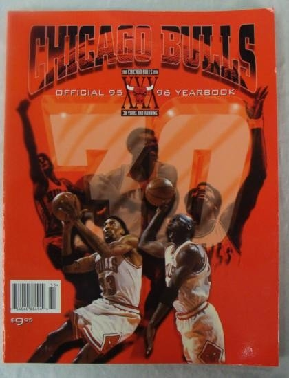 Chicago Bulls Youth Swingster Jacket w/ 95-96 Program