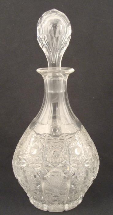 Vintage Czech Crystal Cut Glass Decanter