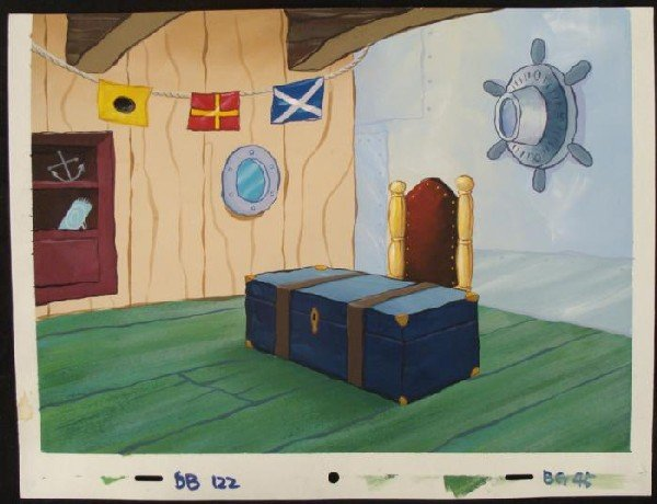 Mr Krab Office Original Background Animation SpongeBob