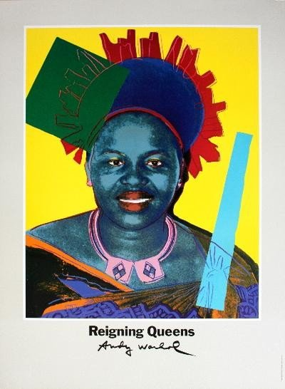 1986 Warhol Queen Ntombi Twala Of Swaziland from Reigni