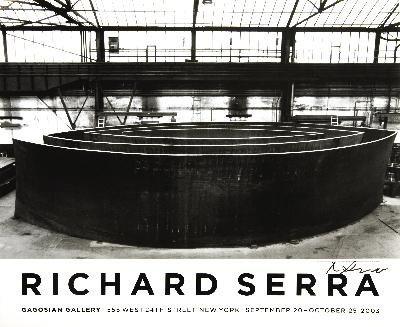 Signed 2003 Serra Blindspot Offset Lithograph