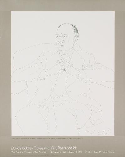 Hockney Sir John Greglud Lithograph