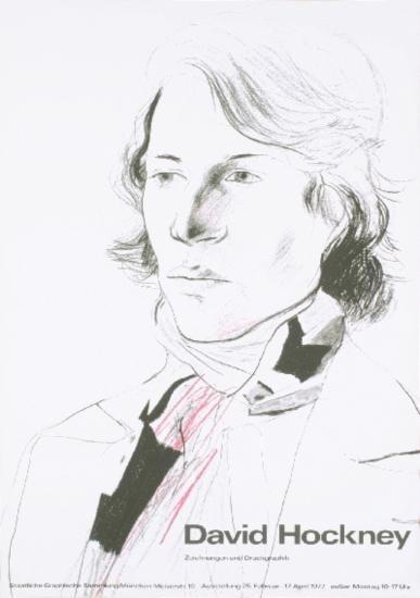 1970 Hockney Zeichnungen und Druckgraphik Poster
