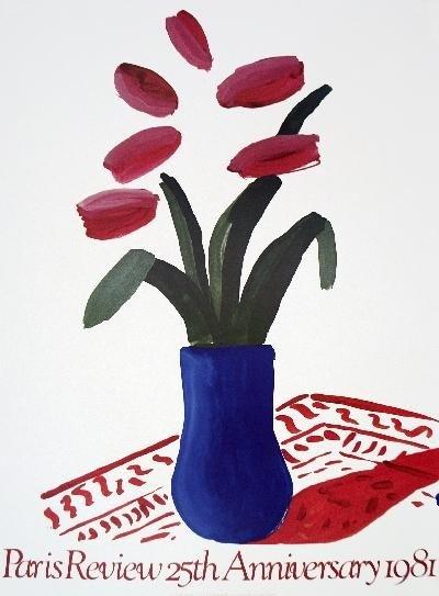 1981 Hockney Flower Study Lithograph