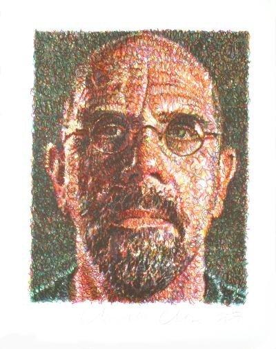 Signed 2007 Close Self Portrait Serigraph