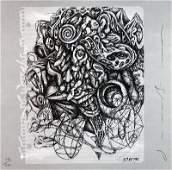 Signed 1986 Borofsky from Art Sounds Portfolio Offset L