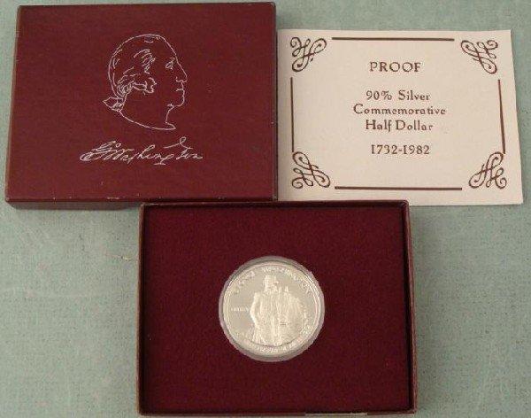 1982 Washington Proof Silver Half Dollar Coin