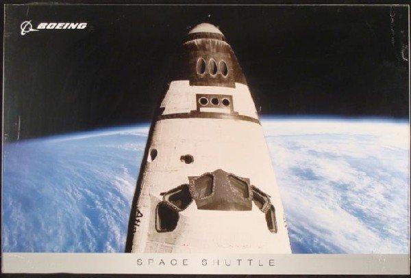 Boeing Space Shuttle Atlantis 747 Airplane Poster