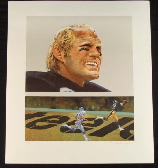 M Corning S/N Print Steelers Terry Bradshaw Super Bowl