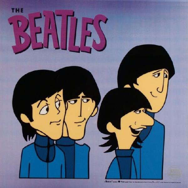 Beatles Cartoon Ltd Ed Sericel Animation Cel -Loves You