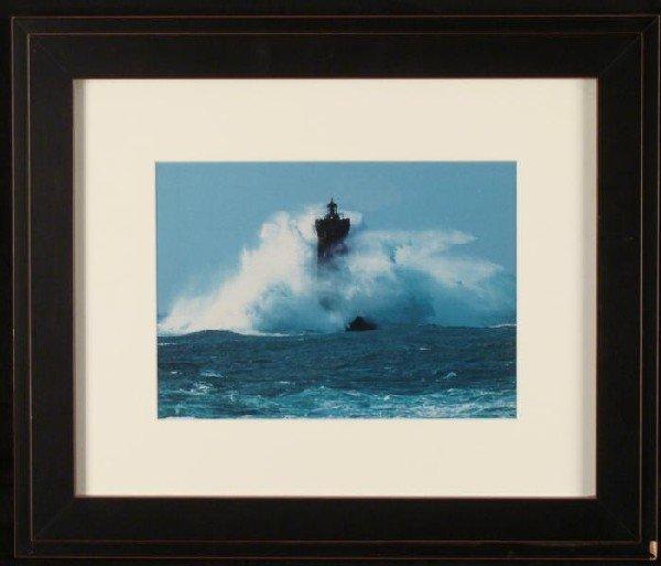 Lighthouse Ocean Lake Nautical Photograph Framed