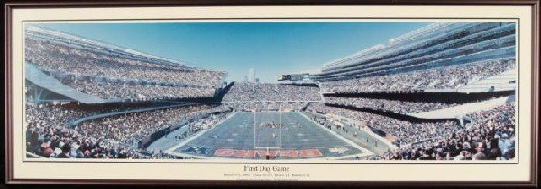 New Soldier Field Chicago Bears 1st Game Rob Arra Photo