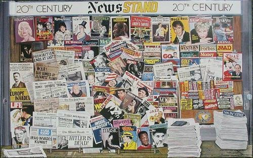 Photo Realist 20th CENTURY NEWSSTAND Ken Keeley Poster