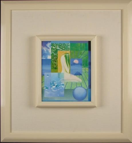 Frank Licsko Original Oil Painting COLLAGE Framed Art