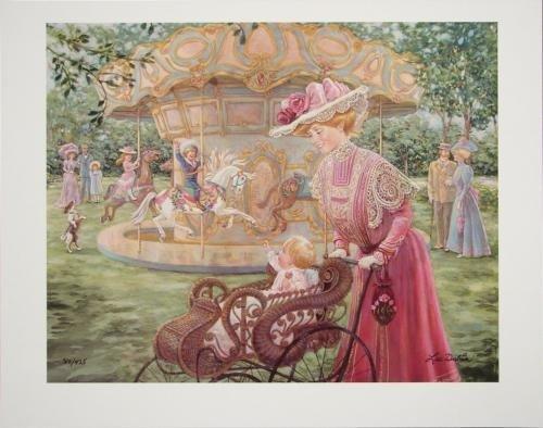 Lee Dubin Victorian Carousel Merry Go Round LE Art