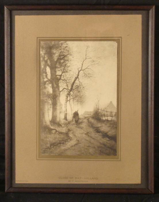 Frits Mondriaan Original Antique Print Holland 1908